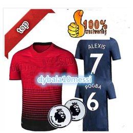 Factory Outlet Cheap 18 19 alexis 7 pogba 6 AWAY football suit 2019 2018  lukaku MARTIAL Mata AWAY DE GEA home goal third goalie rugby shirt 81ebc4b87