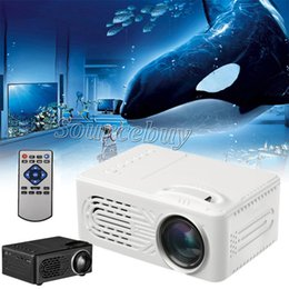 Projector Remotes NZ - Mini Battery Projector RD814 LCD LED Portable Projector RD-814 Home Theatre Cinema LED USB Kids Child Video Media Player with remote control