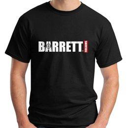 Logotipo Barrett Armas de Fogo de Alta Qualidade de Manga Curta T-Shirt Dos Homens Negros Tamanho S-5XL Mens 2018 Marca de moda T Shirt O Pescoço 100% algodão T-Shir venda por atacado