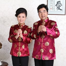 $enCountryForm.capitalKeyWord Australia - Middle-aged Tang Costume for Women Men Traditional Chinese Jacket Long Sleeve Ancient Wedding Birthday Party Tops