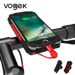 power bicycles Australia - Vogek Bike Bicycle Phone Holder with Power Bank, Motorcycle Handlebar Mount Bracket GPS Phone Stand for iPhone Samsung Xiaomi C18110801