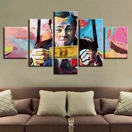 Ingrosso acquerello Leonardo DiCaprio il grande Gatsby Painting Canvas Wall Art Immagini unframe Home Decor 5 pezzi HD Poster stampato