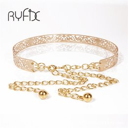Chains For Mirrors Australia - 2018 New female Full Metal Mirror thin Waist Belt Women Metallic Gold Plate With Chains Lady Punk Rocky waistband for women BL26 S18101806
