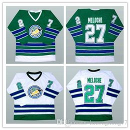 058131be4  27 Gilles Meloche California Golden Seals Oakland Green White Hockey Jersey  Mens Embroidery Stitched Customize any number and name Jerseys
