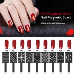 Wholesale 11 Pieces set D Magnet Stick Magnetic Cat Eye Pen Drawing Vertical Stick For Nail Gel Polish Magical Nail Tools
