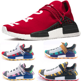 Chinese  Cheap Wholesale NMD HUMAN RACE Pharrell Williams x 2016 Men's & Women's Discount Cheap Fashion Sport Shoes Free Ship barefoot running shoes manufacturers