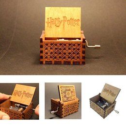 Box Crank NZ - Moylor Hand crank Wood Music Box For Best Toy Gift For fans Unique Christmas 2018 Gift