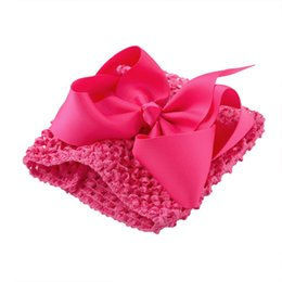 Chinese  XIMA 1PC Retail Girls 5.5inch Crochet Headband Tutu Tube Tops Chest Wrap Wide DIY Bow Headbands ( 0-8 Month Girls) manufacturers