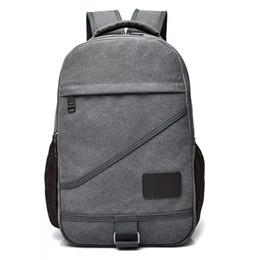 Branded Laptop Backpacks NZ - Brand designer New Women Men Canvas Backpacks Large School Bags For Teenagers Boys Girls Travel Laptop Backbag Mochila Rucksack Grey