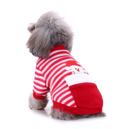 Christmas Jumpsuit Costumes NZ - Christmas Dogs Clothing Jumpsuit Santa Claus Pet Costume Dog Apparel Fashion Clothing Elk Clothing Small Dogs Dog Clothes Chihuahua