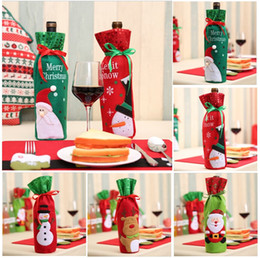 $enCountryForm.capitalKeyWord Australia - Red Wine Bottle Bags Christmas Decorations Gift Party Best Gift for Xmas Bar Red Wine Bottle Cover Bags 5 Colors