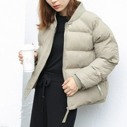 $enCountryForm.capitalKeyWord NZ - Women O-Neck Warm Down Jacket Winter Snow Duck Short Coat Casual Female Long Sleeve Loose Brand Parkas