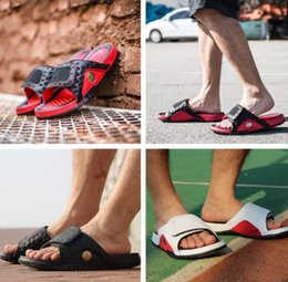 The Best New Arrival Jordan Hydro 13 Sandals Jumpman Xiii Real Cat Eye Slippers For High Quality Black Red White 13s Shoe Sport Slides Stress Relief Toy