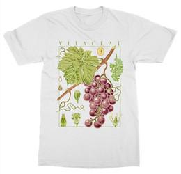 $enCountryForm.capitalKeyWord UK - Short Sleeve For Men Clothing Summer Wine T Shirt Grape Vine Botanical Garden Plant Print Art Botany Fruit Flower Tee Shirt