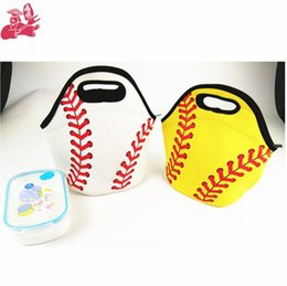 Eco Carrier Bags NZ - Neoprene Softball Lunch Bag Baseball Tote Cooler Bags Food Bag Food Carrier Storage Bags 2 Colors OOA5386