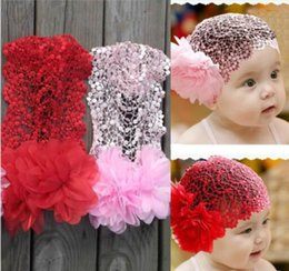 Baby headband children s girls hair band flower net lace headband red pink  cute princess hair accessories 1af61906fc42