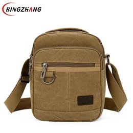Casual Men s Bags Canvas Solid Shoulder Bags for Travel Handbags Straps  Bolsas Phone Purse Small Flap Male 2018 New L8-330 9b7acdb74f20d