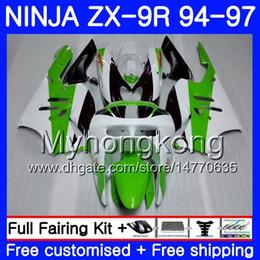 96 Kawasaki Zx9r Australia - Body For KAWASAKI NINJA ZX900 ZX 9R 1994 1995 1996 1997 221HM.31 ZX 9 R 900 900CC Green white hot ZX-9R 94 97 ZX9R 94 95 96 97 Fairing kit