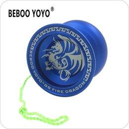Aluminum Yoyo Blue Australia - G8 Blue Fire Dragon yoyo Professional YoYo Ball Aluminum Alloy yo-yo set Gift New Arrival