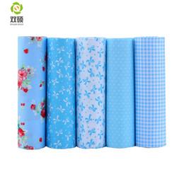 1127567060 Shuanshuo Bule Color Cotton Patchwork Fabric Fat Quarter Bundles Fabric For  Sewing DIY Crafts Doll Cloth 40*50cm 5pcs lot