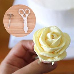 $enCountryForm.capitalKeyWord Australia - 1 Set Cake Decoration Cake Flower Stand Nail 2 Icing Piping Nozzle 1 Scissors For Cream Flower Transfer
