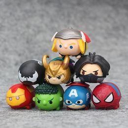 Avengers Toys For Sale NZ - New Sale 8 PCS Set The Avengers Jenga Spider-man Iron Man Hulk Mini PVC Action Figure Collection Dolls for Children Toys Phone Accessories