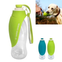 Portable dog drinking bottle online shopping - 650ml Sport Portable Pet Dog Water Bottle Expandable Silicone Travel Dog Bottles Bowl For Puppy BBA216