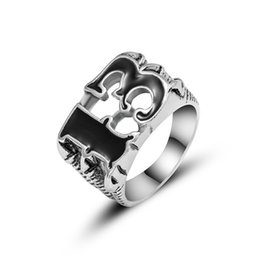 biker rings 13 2020 - Number 13 Skull Claw Ring Unique Mens Number Lucky 13 Biker Finger Ring Stainless Steel Vintage Claw Punk Rock Number 13