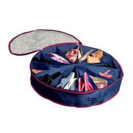 China Non Woven Fabrics Storage Bag 12 Grid Dust Proof Pouch Round PVC Transparent Film Cover Shoes Bags Blue 13 5ry B supplier pvc beds suppliers