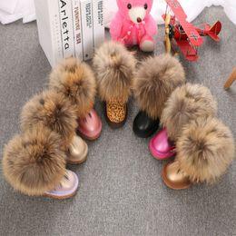 $enCountryForm.capitalKeyWord NZ - Newest Winter High quality Cowhide Girls Woman Warm Snow Boots 100% Genuine Leather Fox Fur Snow Wear Warm Fashion Shoes Short Ankle Woman