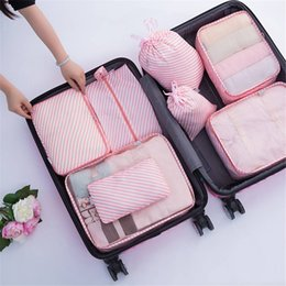 Types Set Clothes Australia - Waterproof Foldable Storage Bags Packing Luggage Organizer Pouch Travel Home Clothes Cosmetic Underwear Storage Organizer High Capacity 8Pcs