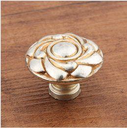 $enCountryForm.capitalKeyWord Australia - 2018 new Ancient Silver Rose carving single door knob cabinet handles kitchen crystal zinc alloy pulls furniture handles #397