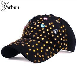 $enCountryForm.capitalKeyWord Australia - [YARBUU] new fashion brand baseball caps for women Lady diamond rhinestone peaked cap high quality snapback cap hat wholesale