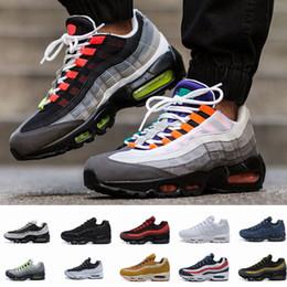 online retailer d7a8e 2cadd 2018 new air men casual laufschuhe 95 schwarz gold rot 95s chaussures white  designer trainer sport mens maxes zapatos turnschuhe größe 7-12