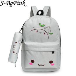 9ca78c1c06 kawaii emoji backpack feminine canvas school backpack youth cute for teenagers  girls smiley school bag sac a dos ecole
