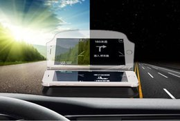 Car Heads Up Display Australia - Car HUD Head Up Display For Car Phone GPS Navigation Glass Reflector Cell phone Holder Mount Bracket With Retail Package