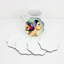 China sublimation coaster for customized gift mdf wood coasters for dye sublimation flower shape heart transfer printing blank consumables suppliers
