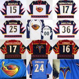 178a75f95 Atlanta Thrashers 17 ILYA KOVALCHUK 15 DANY HEATLEY 16 Jeff Cowan 39 Tobias  Enstrom Eric Boulton Marian Hossa Hockey Jerseys