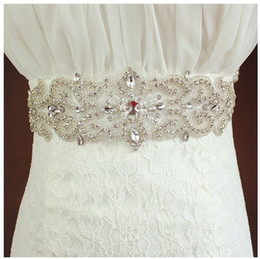 royal blue dress accessories Canada - The bride has a luxurious belt. Pure handmade. Royal royal wedding dress accessories, factory direct. 10 colors are available.