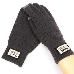 $enCountryForm.capitalKeyWord UK - Autumn Winter Men Knitted Gloves Touch Screen High Quality Male Thicken Warm Wool Cashmere Solid Gloves Men Mitten Business