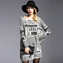 Discount longest yard - In the spring of 2018 the new fat mm big yards dress In loose set of head printing long knit sweater wholesale render