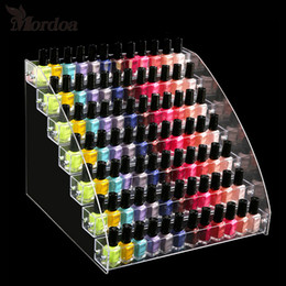 Discount manicure display stand - Acrylic Nail Polish Display Organizer 2-3-4-5-6-7 Layer Manicure Cosmetics Jewelry Display Stand Holder Clear Acrylic Ma