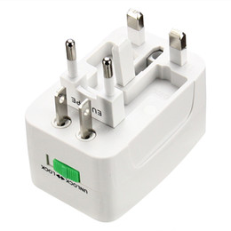 $enCountryForm.capitalKeyWord NZ - 100pcs Universal Plug power Socket Adapter International travel adapter Travel Socket Power Charger Converter EU UK US AU