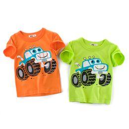 089474c2c7c9 2-9T Kids Tops Tees Cotton Boys t shirts 2018 Cartoon Car Pattern Baby Boy  Clothes Casual Short Sleeved shirt Boys Summer Clothing