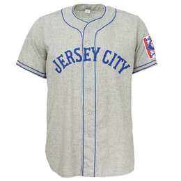 $enCountryForm.capitalKeyWord NZ - Jersey City Giants 1939 Road Jersey Double Stiched Name & Number & Logos For Men Women Youth Customizable