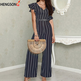 033a0fa1ed3a striped short jumpsuit for women 2019 - 2018 New Overalls For Women Rompers  Fashion Casual Striped