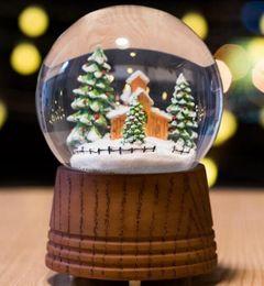 $enCountryForm.capitalKeyWord Canada - Music box crystal ball snowflake revolving forest snow house