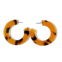 Leopard saLe online shopping - New Sweet Tortoise Resin Geometric Leopard Print Popular Pretty Elegant Earring Hot Sale Earring