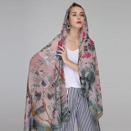 $enCountryForm.capitalKeyWord Australia - Newest Bird In Tree Pattern Fringe Cotton Scarf Muslim Wrap Hijab Shawls Tree Branch Bird Scarves for women 7 Color Free Shipping
