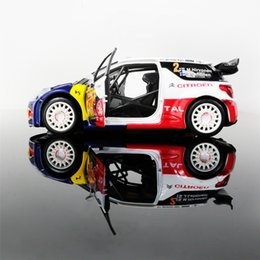 Discount diecast model race cars - Diecast Metal Model Toys 1:26 DS3 WRC Sound Light Pull Back Racing Car For Collection